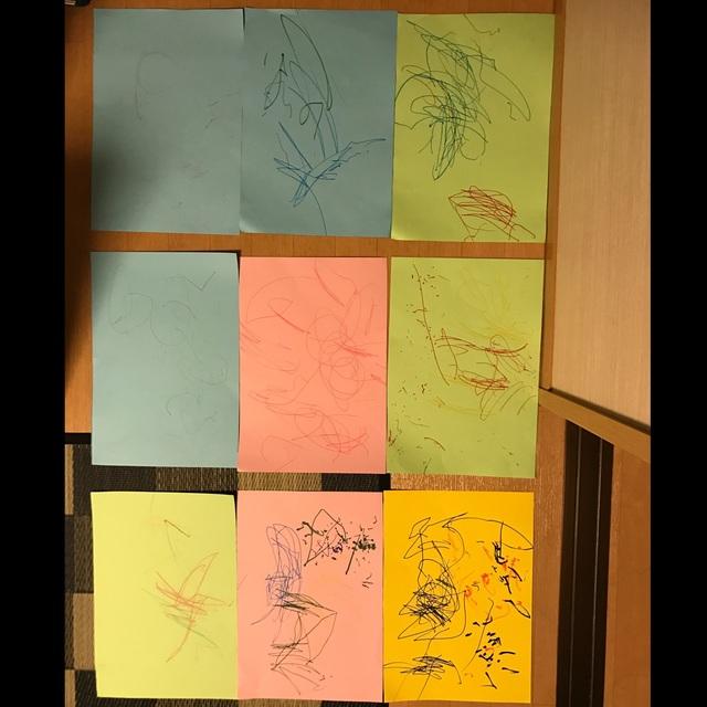 【アプリ投稿】4月☆お絵描き☆1歳児
