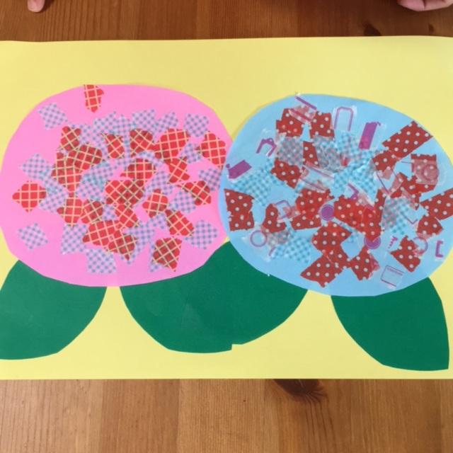 【アプリ投稿】5歳 紫陽花