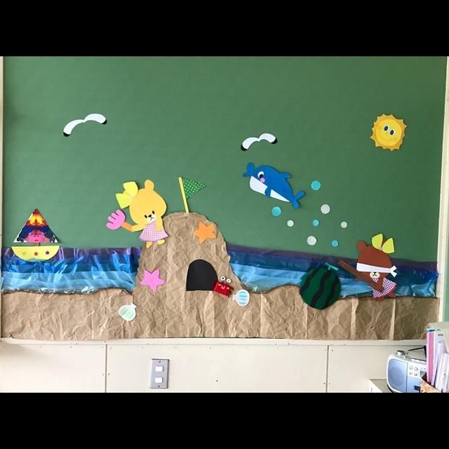 【アプリ投稿】夏の壁面 海水浴