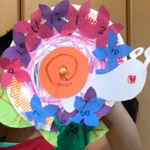 【アプリ投稿】紙皿で作ったカタツムリ時計