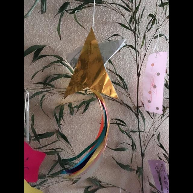 【アプリ投稿】七夕飾り折り紙二枚で星