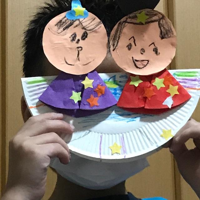【アプリ投稿】紙皿でゆらゆら彦星さまと織姫さま♥︎︎