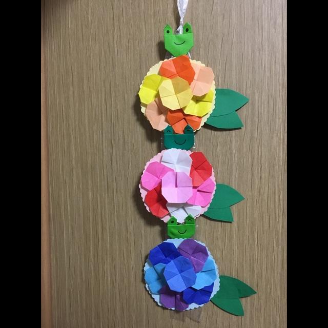 【アプリ投稿】紫陽花つるし飾り