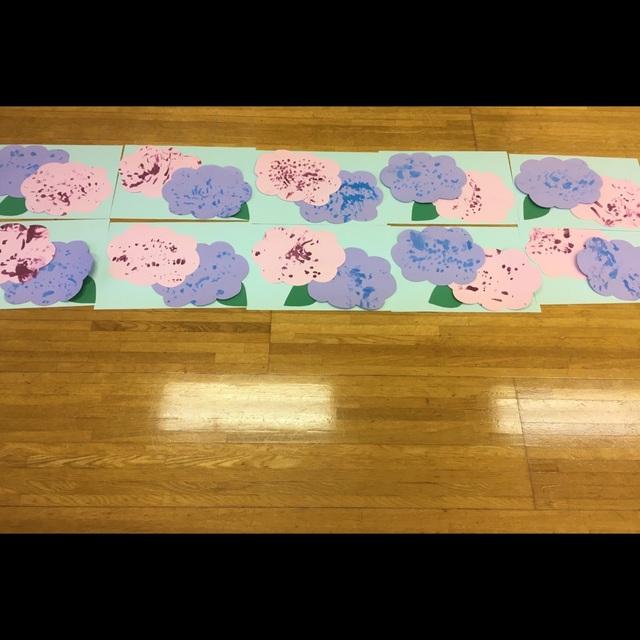【アプリ投稿】紫陽花0歳児指スタンプ