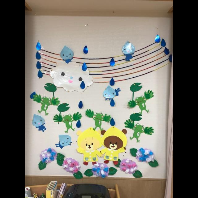【アプリ投稿】0歳児  6月の壁面