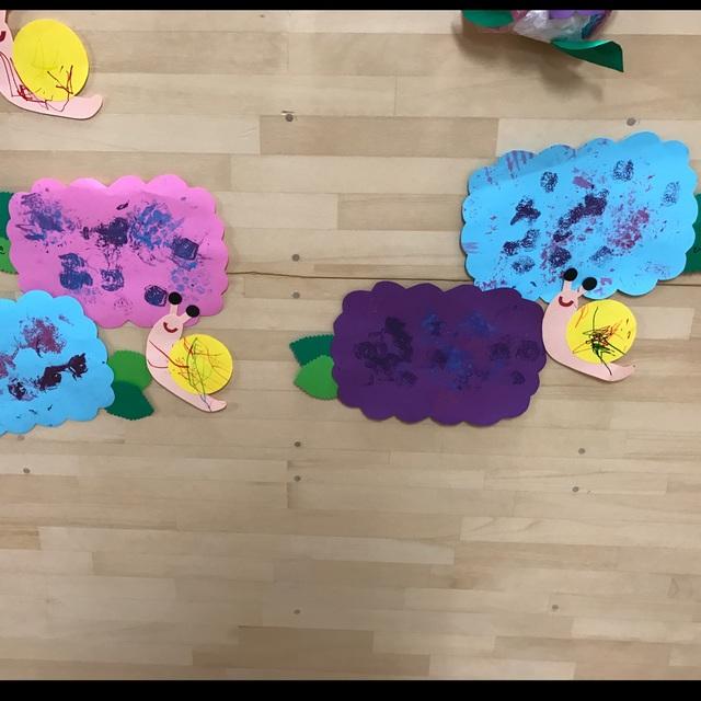 【アプリ投稿】☆紫陽花とカタツムリ☆1歳児