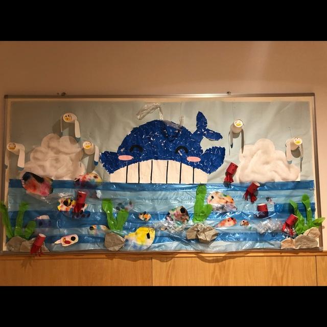 【アプリ投稿】壁面・海の生き物