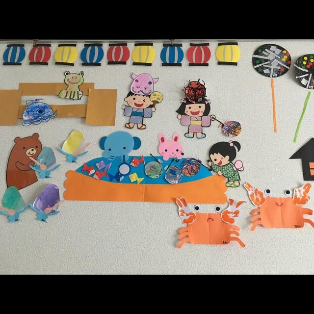【アプリ投稿】☆3歳児7月壁面