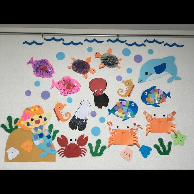 【アプリ投稿】☆3歳児8月壁面
