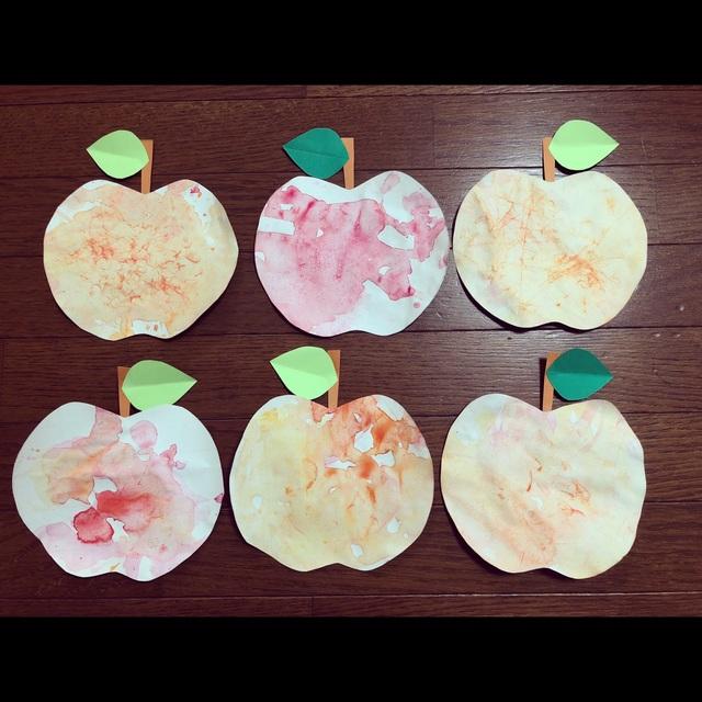 【アプリ投稿】秋製作 りんご、なし