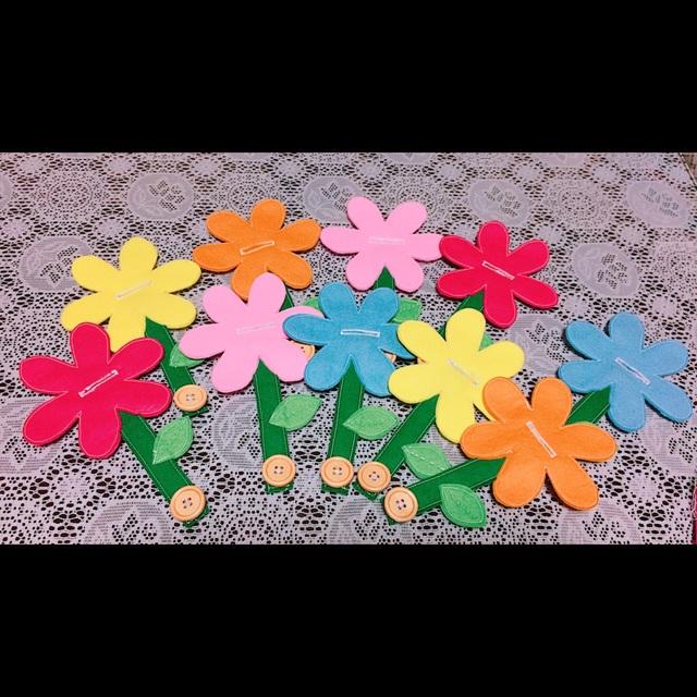 【アプリ投稿】【お花のボタンかけ】