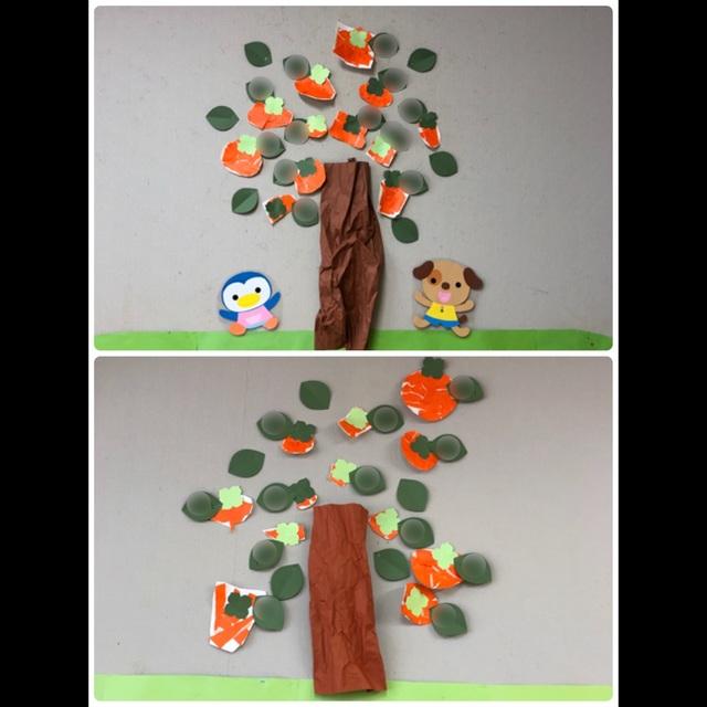 【アプリ投稿】11月壁面 柿の木