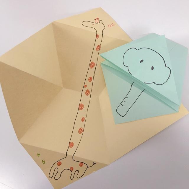 【アプリ投稿】びっくり ばぁ!古封筒を使った簡単おもちゃ。