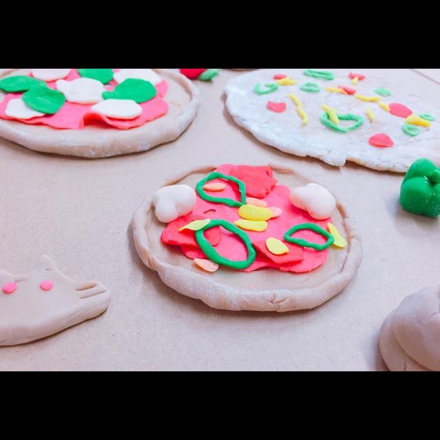 【アプリ投稿】小麦粉粘土でピザ作り。