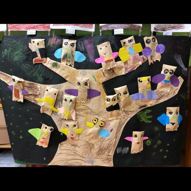 【アプリ投稿】4歳児、フクロウの木