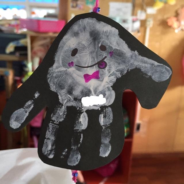 【アプリ投稿】手形のおばけ1~2歳児