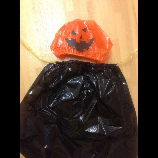 【アプリ投稿】かぼちゃの帽子マント