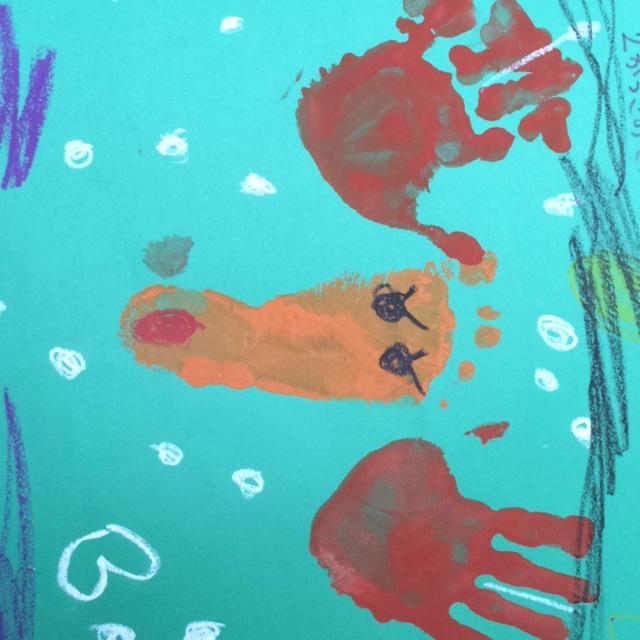 【アプリ投稿】手形と足型のトナカイ