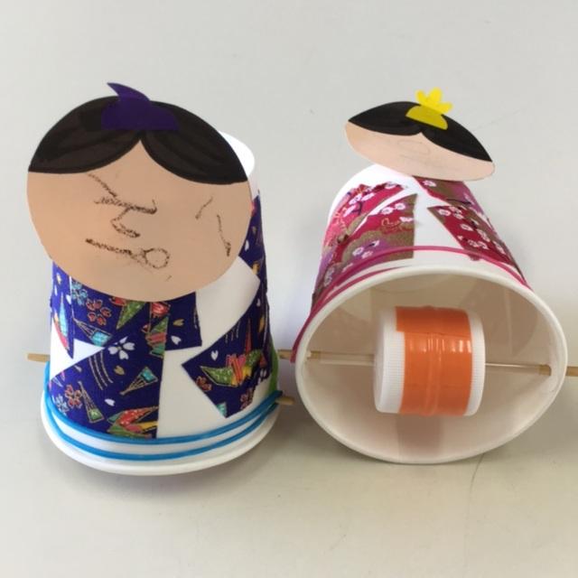 【アプリ投稿】【動く紙コップひな人形】