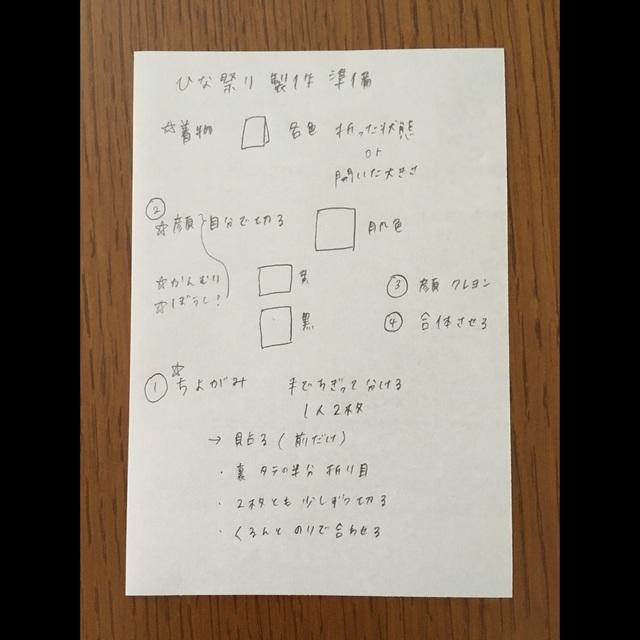 【アプリ投稿】ひな祭り製作