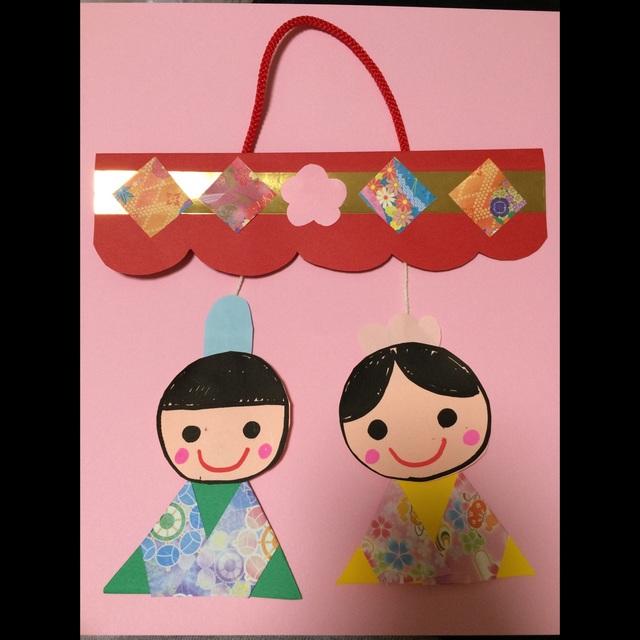 【アプリ投稿】「ひな祭り」3歳児製作