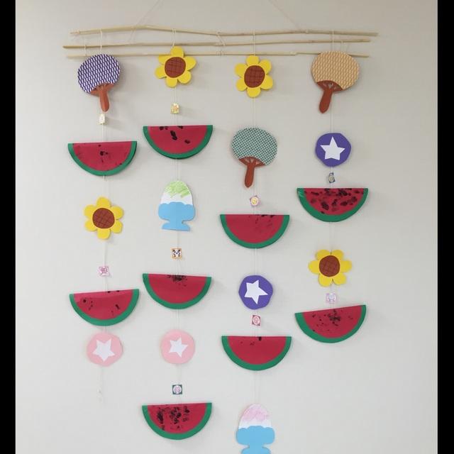 【アプリ投稿】夏の壁飾り
