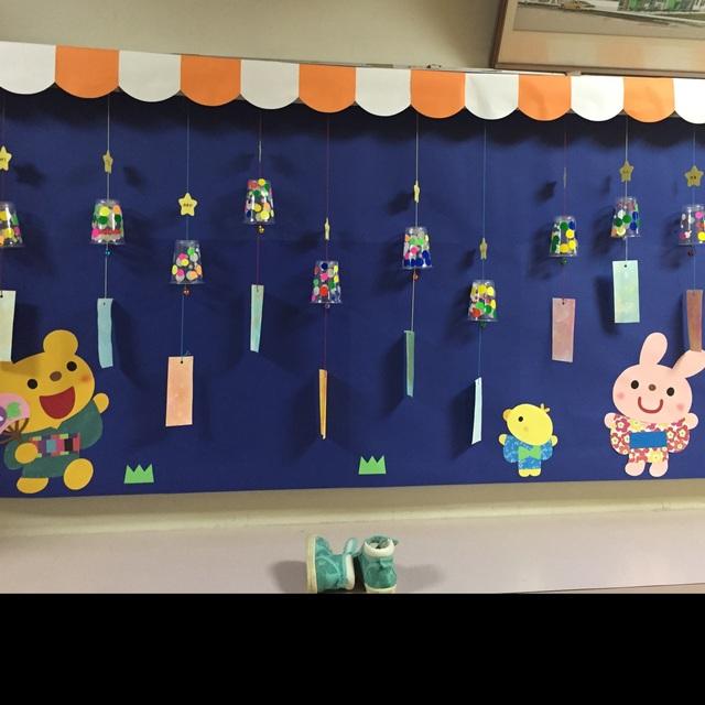 【アプリ投稿】3歳児 玄関装飾 夏