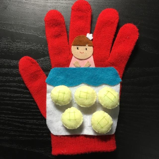 【アプリ投稿】【パン屋に5つのメロンパン】手袋シアター