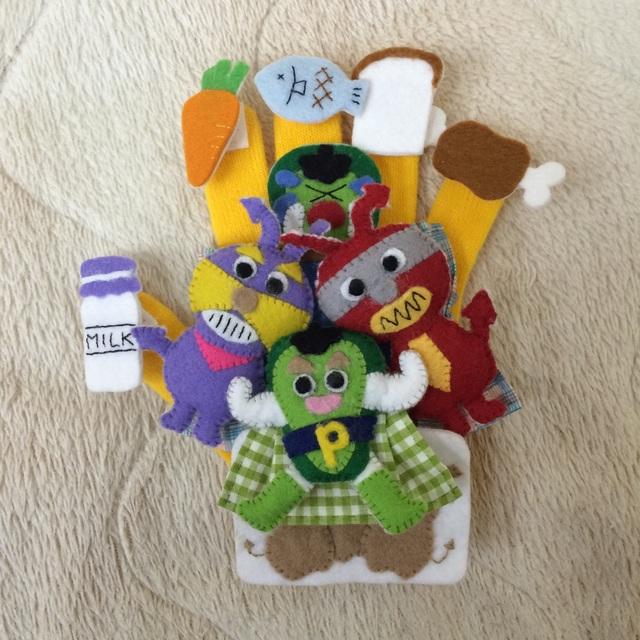 【アプリ投稿】手袋シアターグリーンマントのピーマンマン