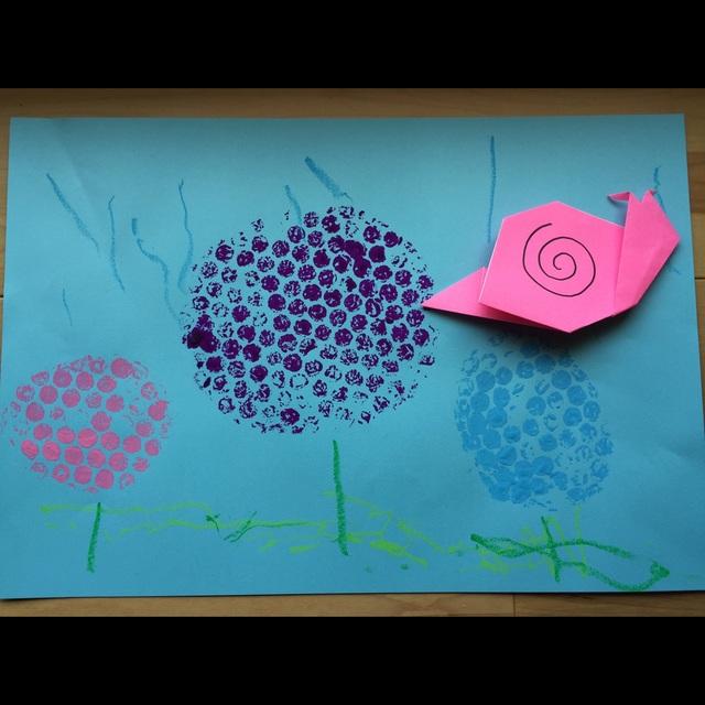 【アプリ投稿】2歳児紫陽花の制作
