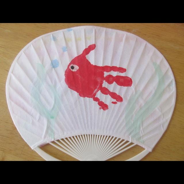 【アプリ投稿】手形金魚うちわ