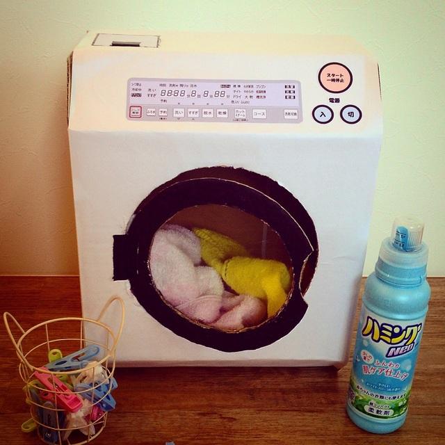 【アプリ投稿】【段ボールでドラム式洗濯機】