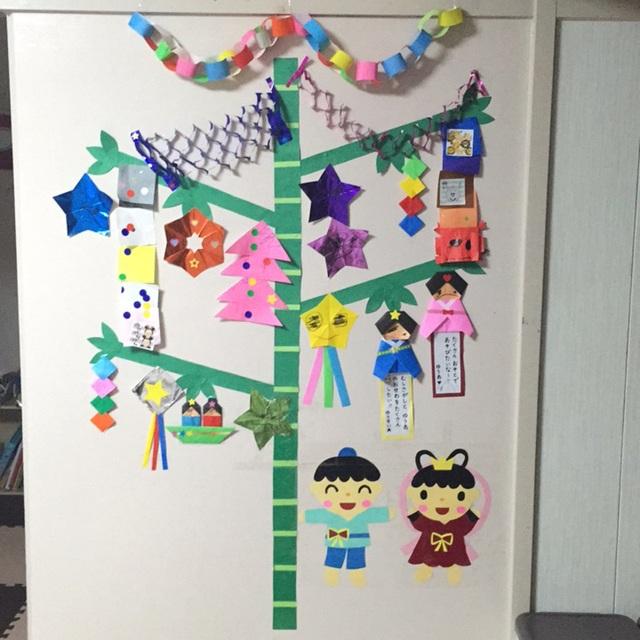 【アプリ投稿】七夕☆自宅の壁を飾りました。
