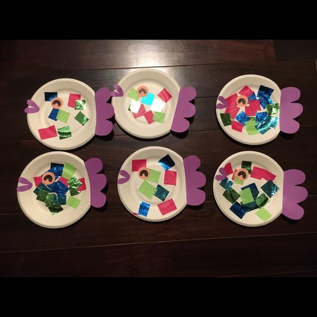 【アプリ投稿】紙皿のおさかな