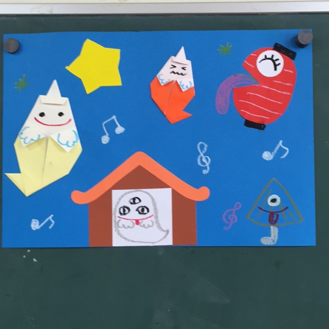【アプリ投稿】7・8月の壁面  4歳児