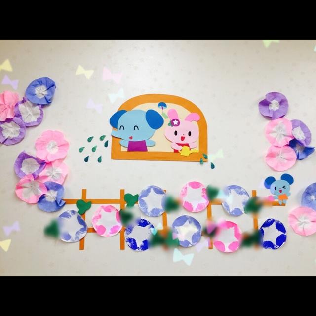 【アプリ投稿】☆7月壁面☆1歳児