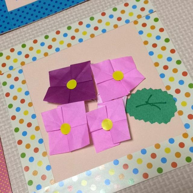 【アプリ投稿】折り紙(紫陽花)