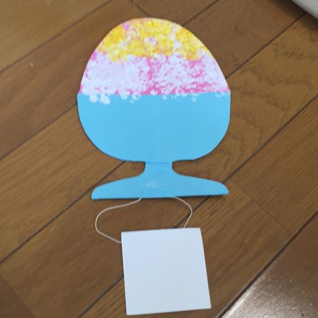 【アプリ投稿】2歳夏の制作
