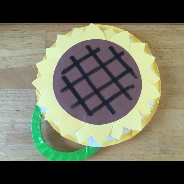 【アプリ投稿】紙皿のひまわり手持ち太鼓