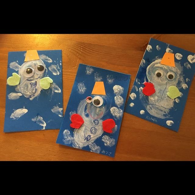【アプリ投稿】雪だるまのカード年賀状や 寒中見舞いに