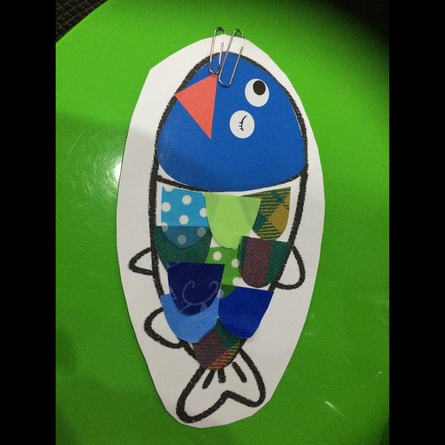 【アプリ投稿】2歳児 リトミック「海のお友達」さかなを作って(磁石で釣る)