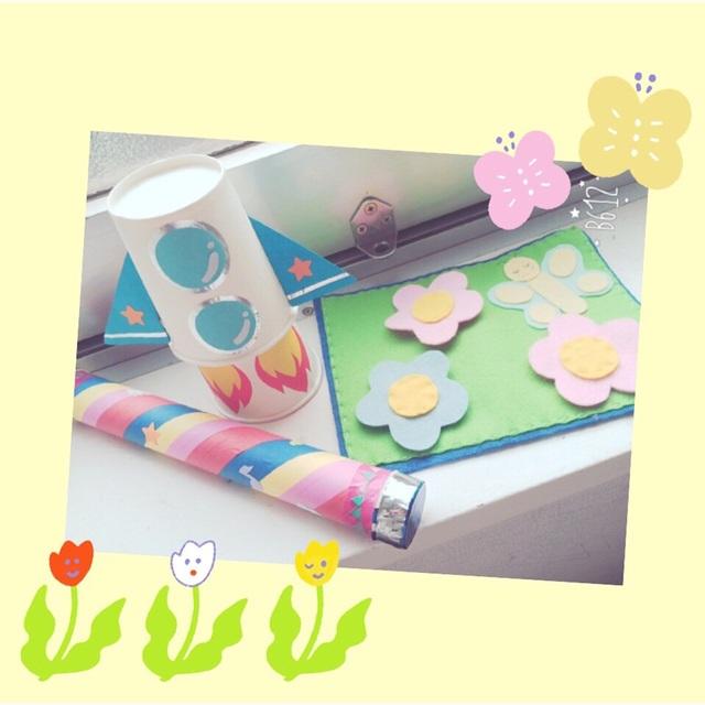 【アプリ投稿】乳児おもちゃ『とびでるロケット』『ぺりぺりお花』『がらがらマラカス』