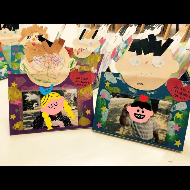 【アプリ投稿】父の日プレゼント 写真立て2歳児制作材料牛乳パック画用紙L版用の袋割り箸(補強用)ダンボール辺(補強用)