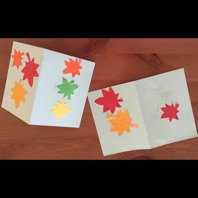 【アプリ投稿】もみじいっぱいのカード敬老の日。