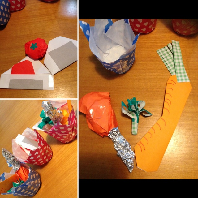 【アプリ投稿】【折り紙おままごと】4歳児制作