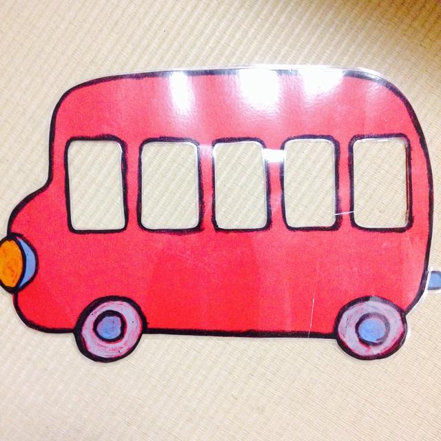 【アプリ投稿】バス  ペープサート