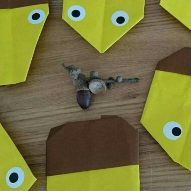 【アプリ投稿】⚫どんぐりの折り紙