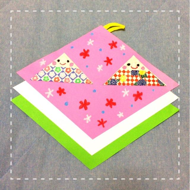 【アプリ投稿】【ひな祭り、折り紙製作】