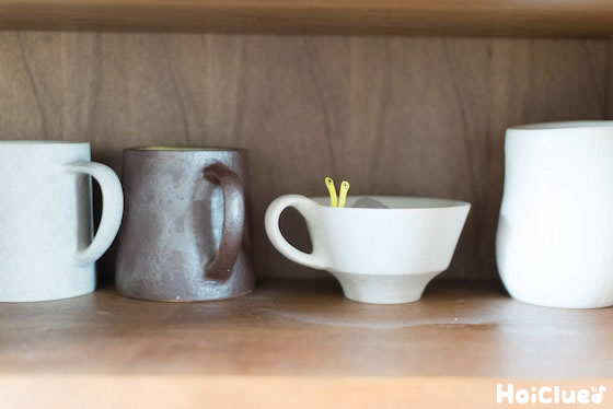 コーヒーカップに入れている写真