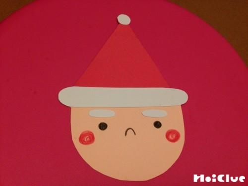 サンタの顔を書き込んだ写真